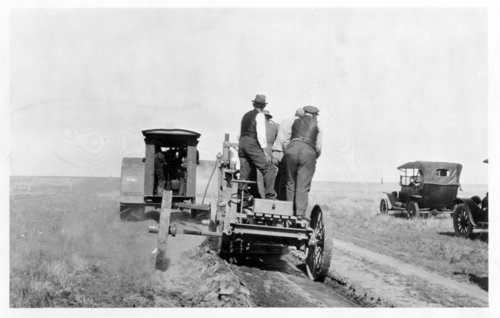 Road construction work, Greeley County, Kansas - Page