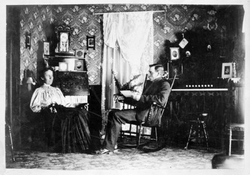 Interior view of the Andrew Johnson home, Greeley County, Kansas - Page