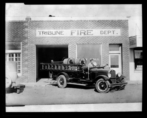Fire engine, Tribune, Greeley County, Kansas - Page