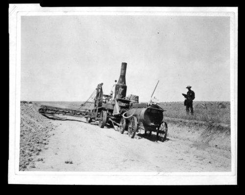 Steam-powered road grader, Greeley County, Kansas - Page