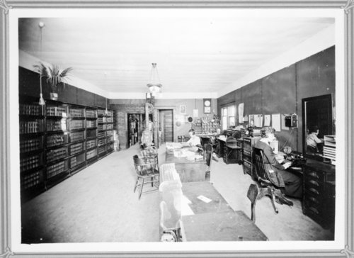 Interior view of D.R. Beckstrom law office, Tribune, Greeley County, Kansas - Page