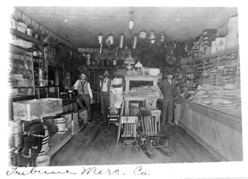 Interior view of the Tribune Mercantile Company, Tribune, Greeley County, Kansas - Page