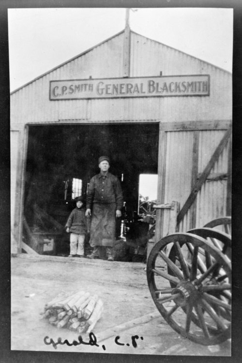 Clyde P. Smith general blacksmith shop, Tribune, Greeley County, Kansas - Page