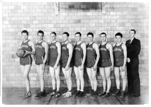 Greeley County High School basketball team, 1932-1933, Tribune, Kansas - Page