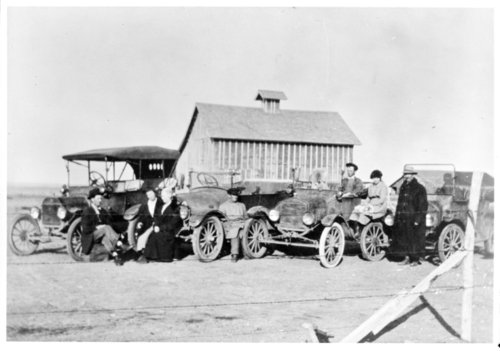 Automobiles on the Chorn farm, Greeley County, Kansas - Page