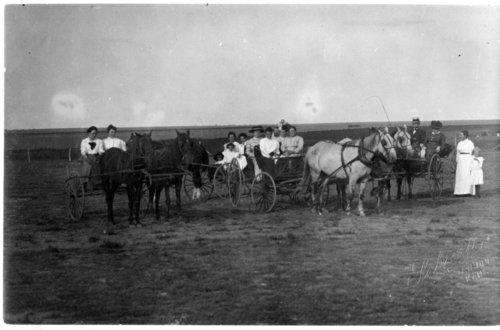Presbyterian ladies and Rev. May, Greeley County, Kansas - Page