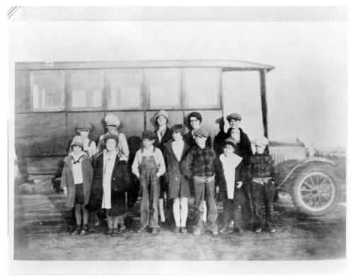 First school bus in Greeley County, Kansas - Page