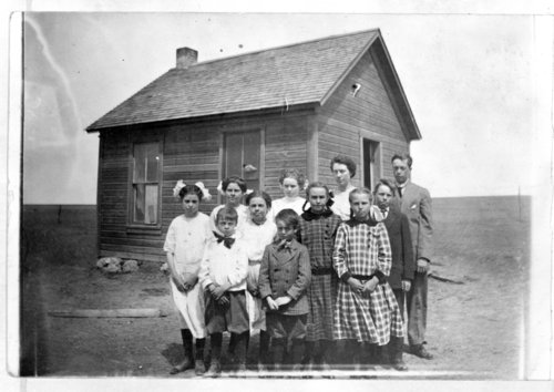 Students at the North New Hope School, Greeley County, Kansas - Page