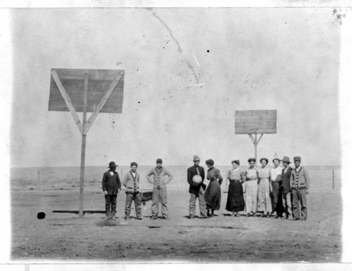 Co-ed basketball team at the Youngsville School, Greeley County, Kansas - Page