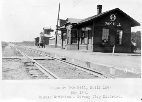Atchison, Topeka & Santa Fe Railway Company depot, Oak Hill, Kansas - Page