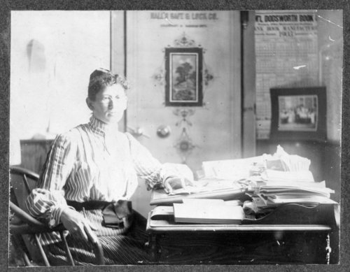 Ella Everet, Greeley County, Kansas school superintendent - Page