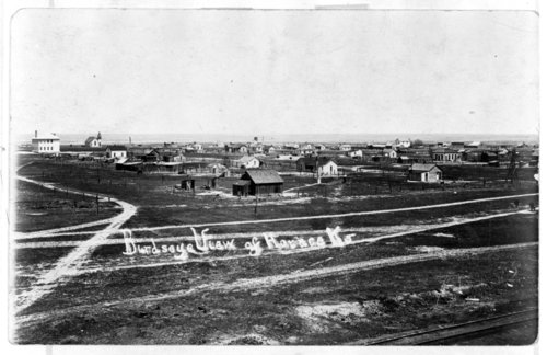 Bird's eye view of Horace, Greeley County, Kansas - Page