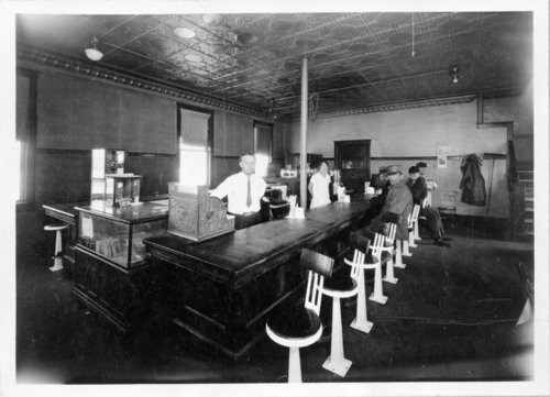 Interior view of the Van Noy restaurant, Horace, Greeley County, Kansas - Page
