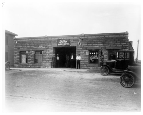 Charles Holmes' Ford garage, Horace, Greeley County, Kansas - Page