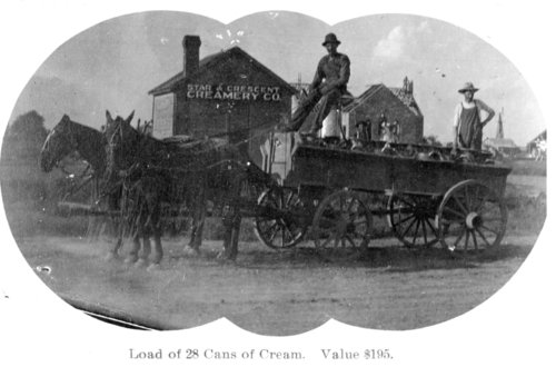 Delivery wagon at the Star & Crescent Creamery Company, Tribune, Greeley County, Kansas - Page