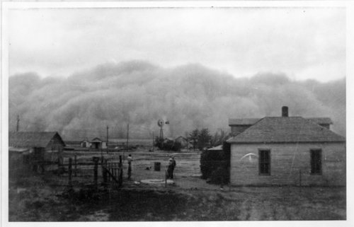 Dust storm, Tribune, Greeley County, Kansas - Page