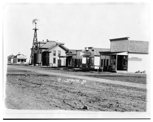 Street scene, Tribune, Greeley County, Kansas - Page