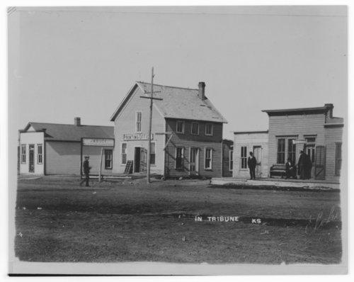 Street scene, Tribune, Greeley County, Kansas - Page