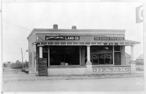 Kansas State Bank and Wilson Land Company offices, Tribune, Greeley County, Kansas - Page