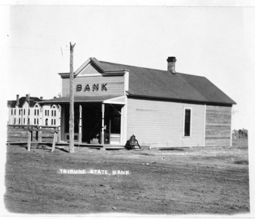 Two views of the Tribune State Bank, Tribune, Greeley County, Kansas - Page
