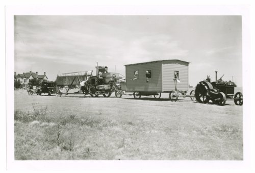 Wheat harvest crew and their equipment, Greeley County, Kansas - Page