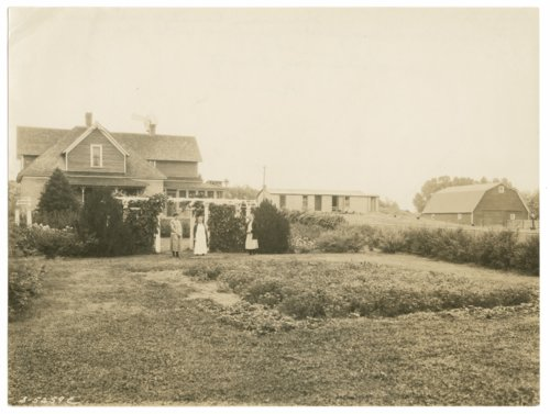 Front lawn and flower garden on a farm in Sherman County, Kansas - Page