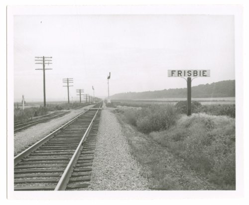 Atchison, Topeka and Santa Fe Railway Company sign board, Frisbie, Kansas - Page