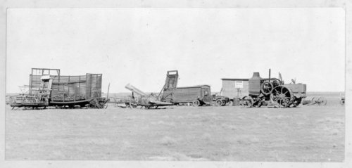 Agricultural machinery in a field in Greeley County, Kansas - Page