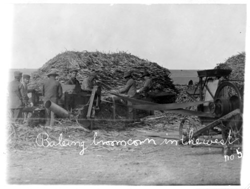 Baling broom corn, Greeley County, Kansas - Page