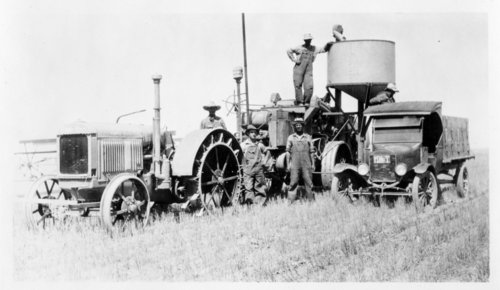 Wheat harvest crew on the Vogt's farm, Greeley County, Kansas - Page