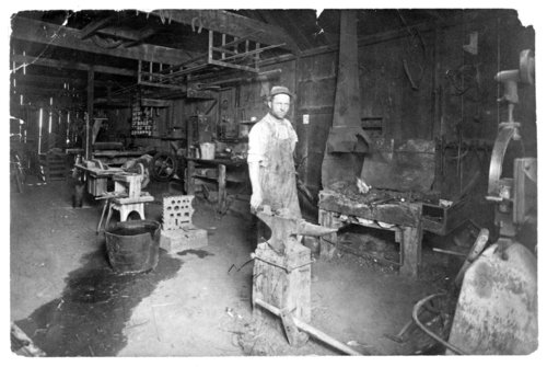 A blacksmith shop in Tribune, Greeley County, Kansas - Page