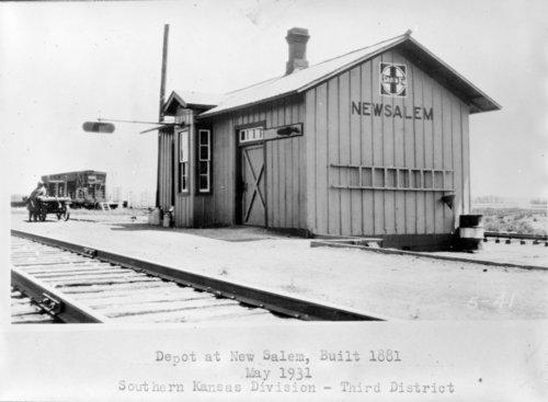 Atchison, Topeka & Santa Fe Railway Company depot, New Salem, Kansas - Page