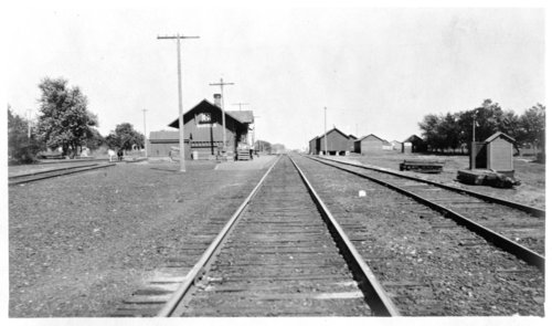 Atchison, Topeka and Santa Fe Railway Company depot, Burden,Kansas - Page