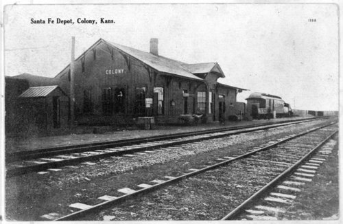 Atchison, Topeka and Santa Fe Railway Company depot, Colony, Kansas - Page