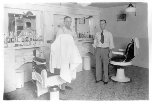 Rowe and Grave barber shop, Tribune, Greeley County, Kansas - Page