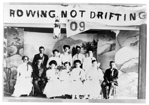 Tribune school class of 1909 group photograph, Tribune, Greeley County, Kansas - Page