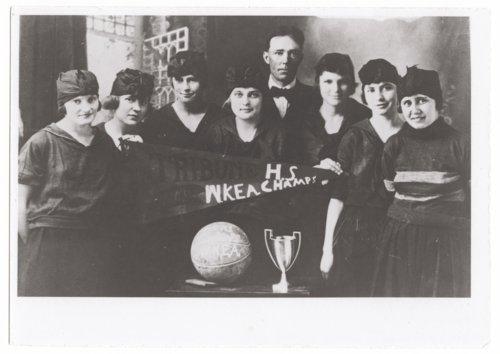 Girls basketball team, Greeley County High School, Tribune, Kansas - Page