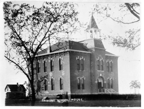 Views of the Greeley County Grade and High School building, Tribune, Kansas - Page