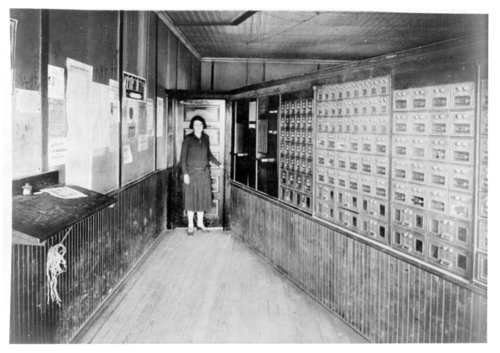 Interior of the post office in Tribune, Greeley County, Kansas - Page