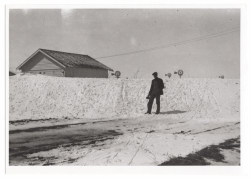 Snow drift in Tribune, Greeley County, Kansas - Page