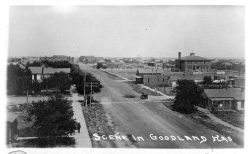 Birds-eye view of Goodland, Sherman County, Kansas - Page