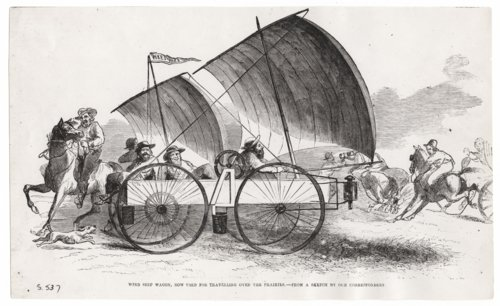 Wind wagon sketch from Leslie's Illustrated - Page