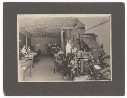 Kansas Leader newspaper plant in Salina, Kansas - Page