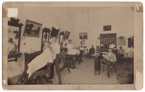 J. W. Blair's Barber Shop in Salina, Kansas - Page
