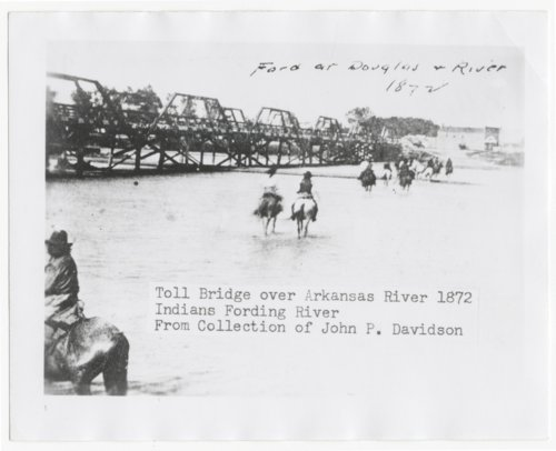 Toll bridge over Arkansas River, Wichita, Kansas - Page