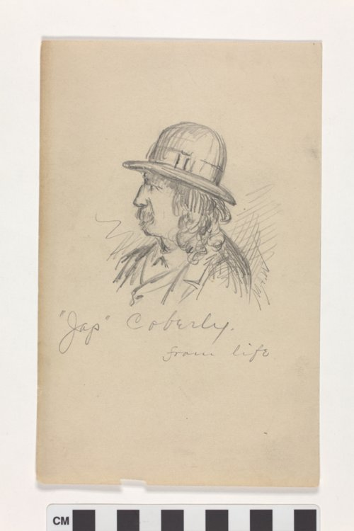 """'Jap' Coberly,"" drawing by Myron A. Waterman - Page"