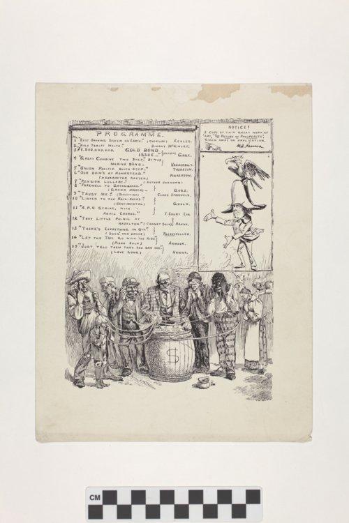 Political Cartoon by Myron A. Waterman - Page