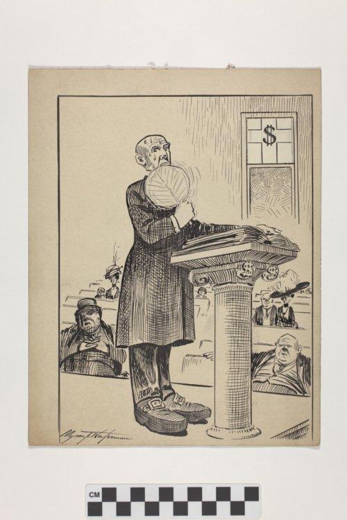 Politcal cartoon by Myron A. Waterman - Page