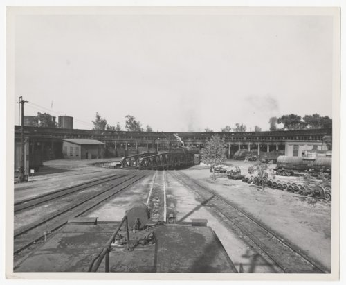 Atchison, Topeka & Santa Fe Railway Company's roundhouse and turntable, Bakersfield, California - Page