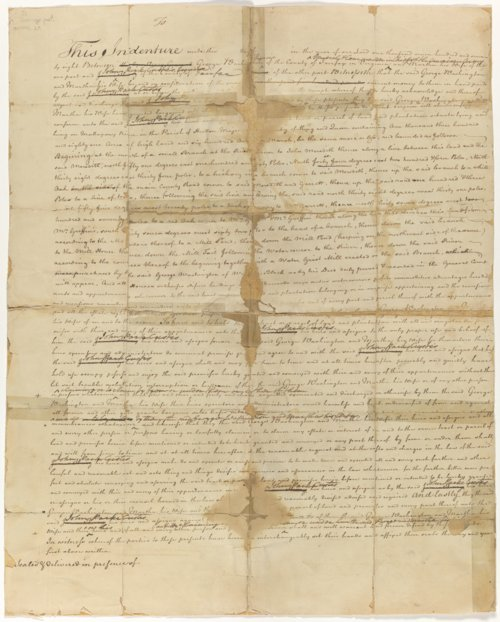 Deed with corrections from George and Martha Washington to John Parke Custis for land in Stratton Major Parish, King and Queen County, Virginia - Page
